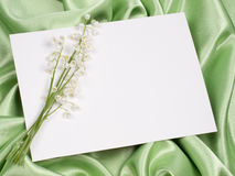 Card and lily of the valley Royalty Free Stock Image