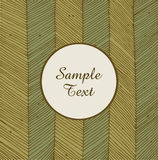 Card with linear network texture. Banner round frame. Background for holidays, arts, crafts, cards. Scrapbooks, setting table, invitations, prints Stock Photography