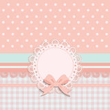 Card for little girls Stock Photo