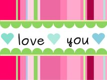 Card Love Royalty Free Stock Photography