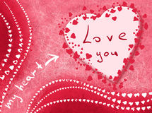 Card with love. Card. My heart loves you Royalty Free Stock Images