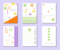 Card with love confession. Card with place for your text. Vector. Illustration.  Set of creative universal  postcards. Hand Drawn textures. Wedding Royalty Free Stock Photos