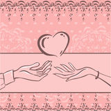Card Love Stock Image