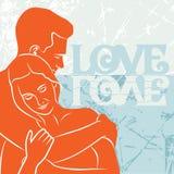 Card love. Vector illustration. Stock Photography