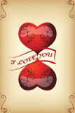 Card for lovers of vintage. Set 1. Vector Royalty Free Stock Photo