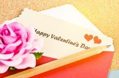 card lyckliga hjärtor för dagen som älskar valentinen för s två Arkivbilder