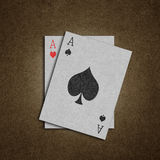 Card made from old paper Royalty Free Stock Images