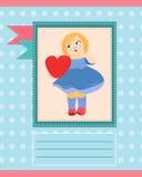 Card mallen Royaltyfri Fotografi