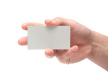 Card in man hand Royalty Free Stock Photo