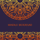 Card with mandala. Background. It can be used in web design, on postcards and etc Stock Images