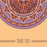 Card mandala Royalty Free Stock Photo