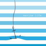 Card with marine stripes Royalty Free Stock Images