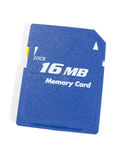 Card of memory. On 16 MB. The image contains a contour for cropping Royalty Free Stock Photos