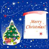 Card of Merry Christmas. Greeting card of Merry Christmas Royalty Free Stock Images