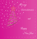 Card, merry christmas Royalty Free Stock Photography
