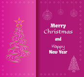 Card, merry christmas Royalty Free Stock Photos