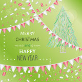 Card, merry christmas Royalty Free Stock Image