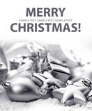Card with Merry Christmas. Toy Royalty Free Stock Photography