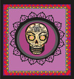 Card with mexican skull Royalty Free Stock Photos