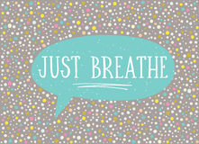 Card in a minimal style, vector templates. Just breathe. Royalty Free Stock Photos