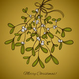 Card with mistletoe. Card with hanging mistletoe. This is file of EPS10 format Stock Photo