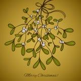Card with mistletoe Stock Photo