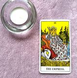 The Empress Tarot Card Mother Mothering Mother Earth Woman Feminine. This card is about Mother Mothering Mother Earth Woman Feminine Archetype Womanly Domestic royalty free illustration