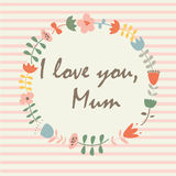 Card for Mother's day Stock Photography