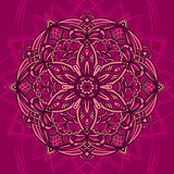 Card multicolor mandala Royalty Free Stock Images