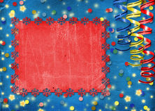 Card with multicolor streamers to holiday Royalty Free Stock Photography