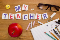 Card My Teacher Stock Photography