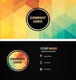 Card name logo pattern ideas royalty free illustration