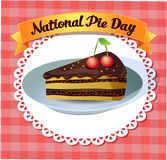Card National Pie Day Royalty Free Stock Photos