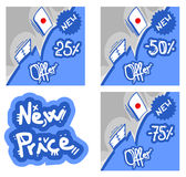 Card new price Stock Image