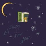 Card. New year. Stock Photo