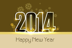 Card for New year 2014 colorful background.  Stock Photography