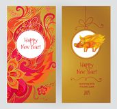 Card for New Year`s greeting in Ð¡hinese style vector illustration