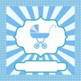 Card for newborn boy Royalty Free Stock Photos
