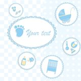 Card for newborn boy Royalty Free Stock Images