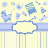 Card for newborn boy Stock Photo