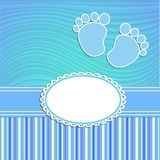 Card for newborn boy Royalty Free Stock Photography