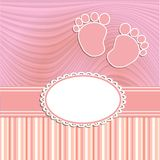 Card for newborn girl Royalty Free Stock Images