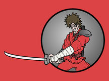 Card ninja sword Stock Image