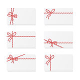 Card notes with gift bows Stock Images