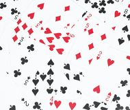 The card number in a pile. Background texture Royalty Free Illustration