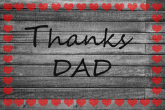 Card on the occasion of Father's Day Royalty Free Stock Images