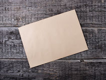 Card  on old wooden background Royalty Free Stock Image