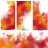 Card orange triangles Royalty Free Stock Image