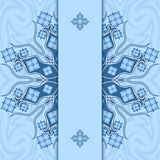 Card with ornament. Blue Royalty Free Stock Image