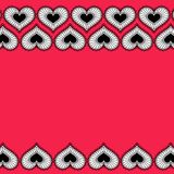 Card with ornament from hearts for Valentine. Royalty Free Stock Image